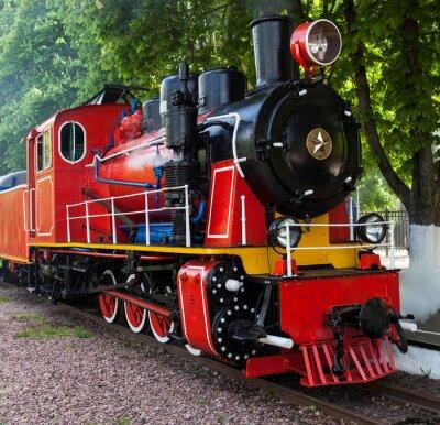 Plakát Parní lokomotiva ofukování páru