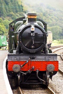 Plakát Parní vlak přijíždí do stanice