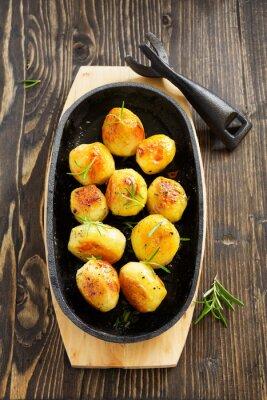 Plakát Pečené brambory s rozmarýnem.