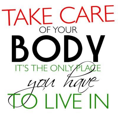 Plakát Pečujte o své tělo Odds