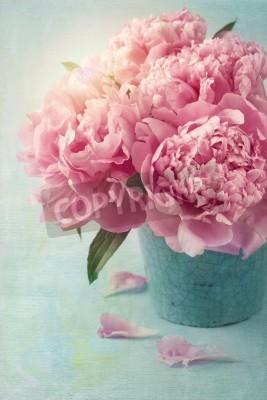 Plakát Pivoňka květiny ve váze