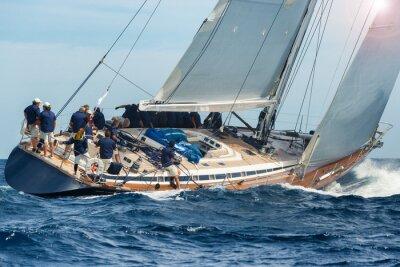 Plakát plachetnice plachtění v regaty