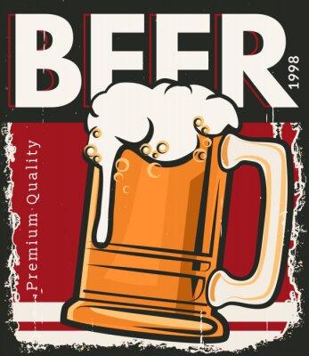 Plakát Plakát retro pivo
