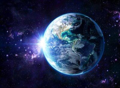 Plakát planet v kosmu - USA pohled - USA