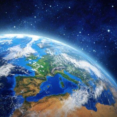 Plakát planeta Země ve vesmíru