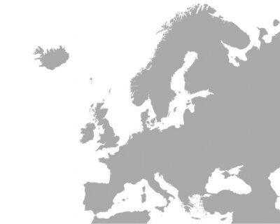 Plakát Podrobná mapa Evropy