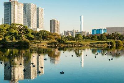 Plakát Pohled na Tokio panoráma s parkem