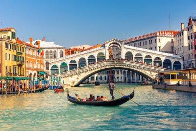 Plakát Ponte di Rialto v Benátkách