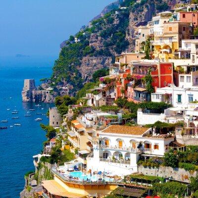 Plakát Positano, Itálie. Amalfi Coast