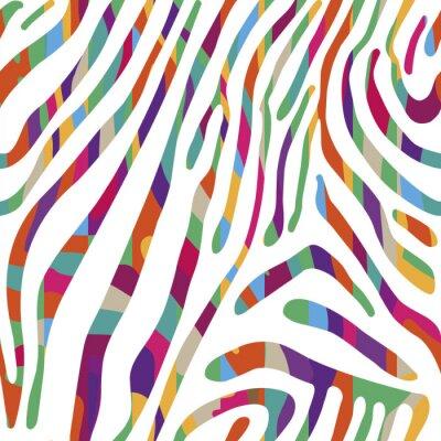 Plakát Pozadí s barevným vzorem zebří kůže