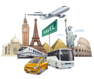 Plakát přeprava a cestování