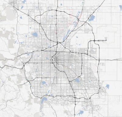 Plakát Pro město Denver. Colorado Roads