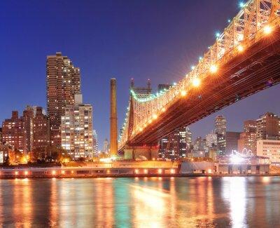 Plakát Queensboro Bridge a Manhattan