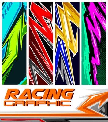 Plakát racing jersey pattern