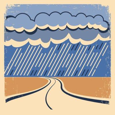 Plakát Rain Vintage plakáty.