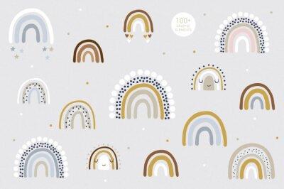 Plakát Rainbow pattern kids decor white background logo design background fashion wedding invitation christmas card retro christmas winter poster font wedding abstract christmas logo flyer brochure