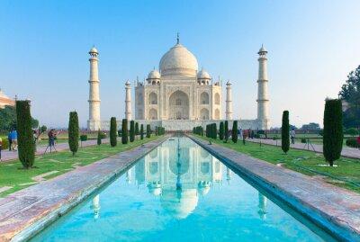 Plakát Ranní pohled na Taj Mahal památkou