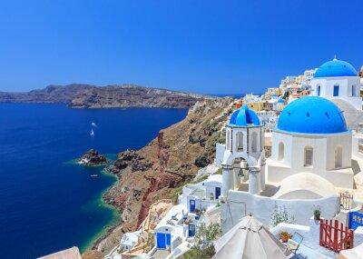 Plakát Řecko Santorini