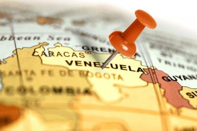 Plakát Red pin na mapě.