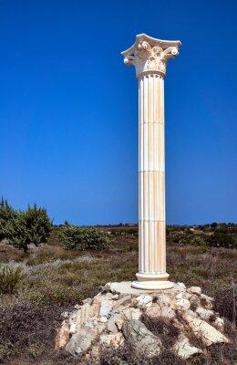 Plakát Rekonstrukce korintskými sloupy na ostrově Kos, Řecko.