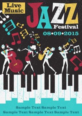 Plakát Retro Abstract Jazz Festival Plakát