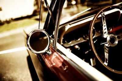 Plakát retro auto fragment