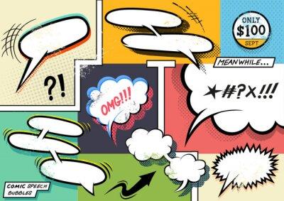 Plakát Retro Comic řeči Bubbles