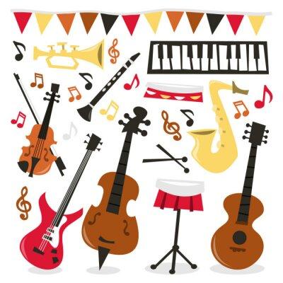 Plakát Retro Hudební Party