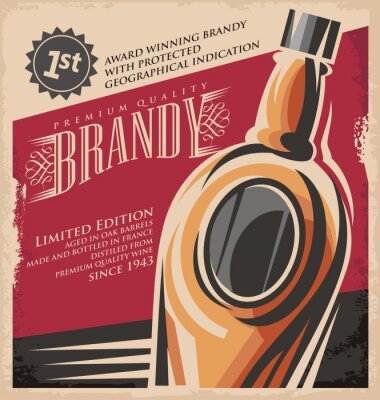 Plakát Retro nápoj kreativní tištěná média koncept