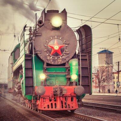 Plakát Retro parní vlak.