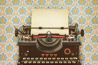 Plakát Retro stylizovaný obraz starého psacího stroje