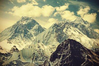 Plakát Retro tónovaný obraz Mount Everestu, Nepál.