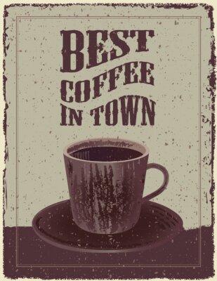 Plakát Retro-Vintage Coffee Plakát