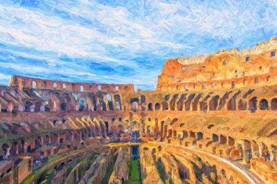 Plakát Řím Colosseum digitální obraz