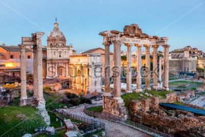 Plakát Římské fórum v Římě