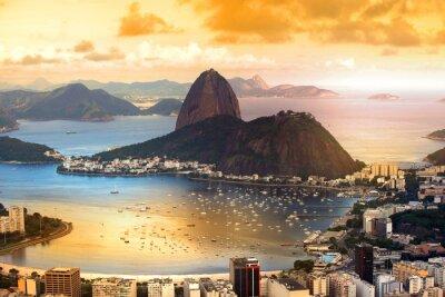 Plakát Rio De Janeiro, Brazílie v soumraku