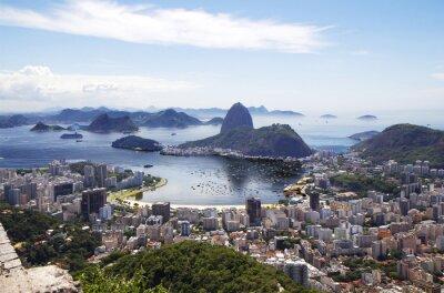 Plakát Rio de Janeiro. Celkový pohled na město.
