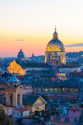 Plakát Roma panorama da Villa Borghese