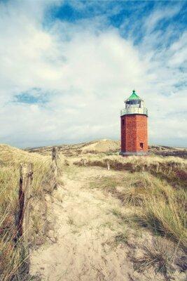 Plakát Roter Leuchtturm v den Dünen