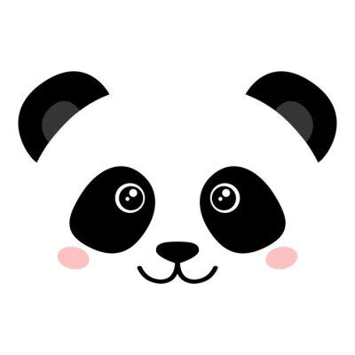 Plakát Roztomilý panda face