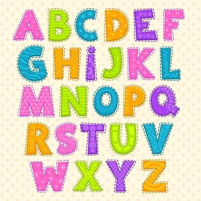 Plakát Roztomilý vtipné dětinské abeceda