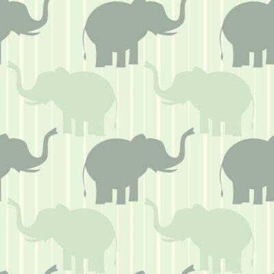 Plakát roztomilých pastel slon bezešvé vektoru vzor pozadí obrázku