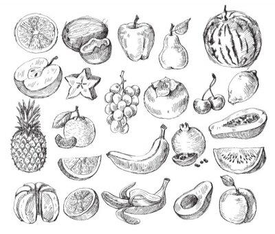 Plakát ručně malovaná ovoce