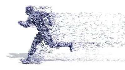 Plakát Running Man z bloků