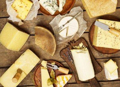 Plakát Různé druhy sýrů