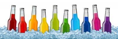 Plakát Různé nápoje na ledové tříšti