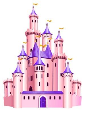 Plakát Růžová princezna hrad.