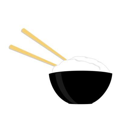 Plakát Rýžová s dvěma hůlkami