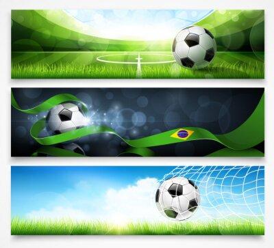Plakát Sada fotbalových bannerů. Vektor