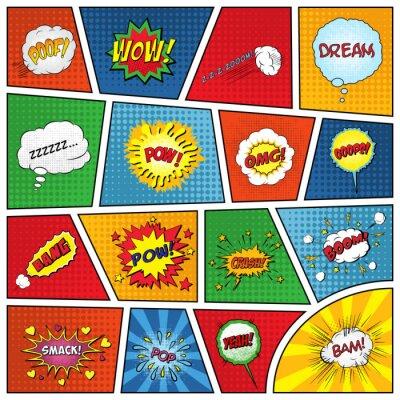 Plakát Sada komické zvukové efekty